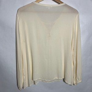 Jack by BB Dakota Tops - JACK BB Dakota V Neck Tie Front Long Sleeve Blouse